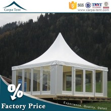 Glass Wall 6mx6m Pagoda Tent For Event High Peak Egypt Marquee Tent For Hot Sale
