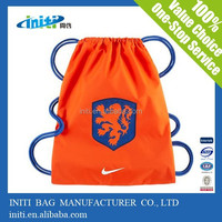 2015 hot sale nylon drawstring soccer bag