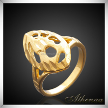 Smooth Gold Plated Essential Oil Copper Finger Ring Designs Men