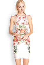 2015 fashion Cultivate one's morality sleeveless dress goddess of flowers,