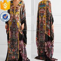 Metallic Printed Silk Kaftan China Alibaba Guangzhou Manufacturer Women Clothing (TS0964D)