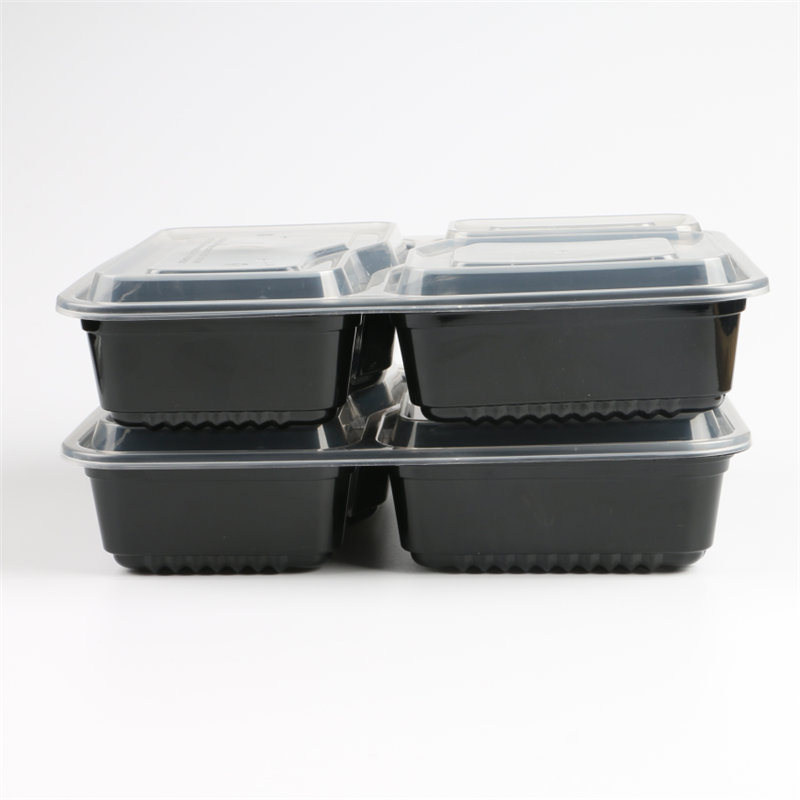 American Style Airtight Disposable Food Container 750ml Plastic Bento Lunch Box Private Label