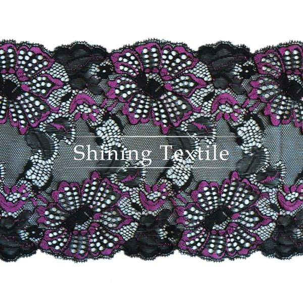 In Stock Nylon Spandex Stretch Fair Trade Lace Trim For Lingerie