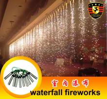 Indoor fireworks waterfall stage fireworks for wedding