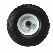 Solid pu foam wheel , solid wheelbarrow tire 4.10 3.50-4