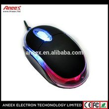promotional computer USB Wire Mouse with LED light mini simple mouse