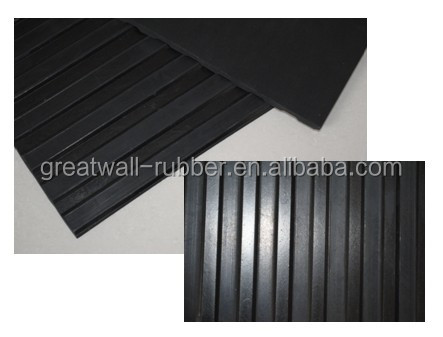 1M-2M Multiple Usage Anti-slip Ribbed Rubber Flooring