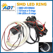 131mm Angel Eye LED Motorcycle Car Light Halo Rings Waterproof Auto Headlight with tube