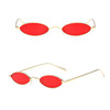 new products small mini oval frame clear lens uv400 protection unisex metal sunglasses CJ7779 in stock
