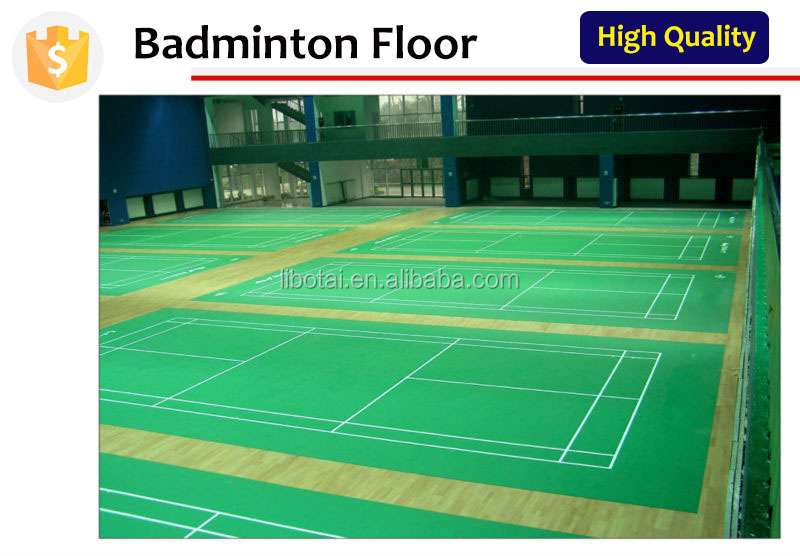 TREX tennis indoor floor rubber badminton sports floor mat badminton flooring