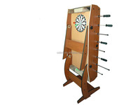 Popular Sell 4 feet Dartboard ,Soccer Table ,Basketball 3 in 1 Multi Game Table with foldable legs