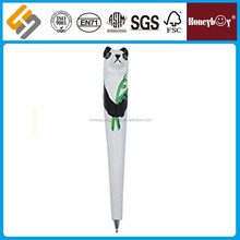 2017 best selling panda shaped plastic ball pen