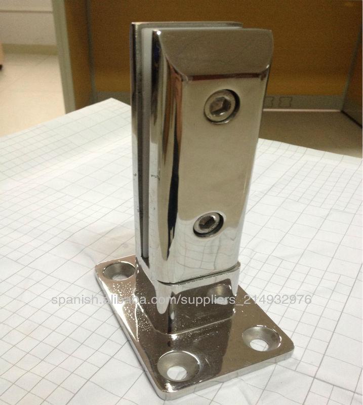 Sin marco de acero inoxidable abrazadera de cristal para la esgrima ...