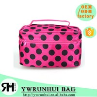 waterproof Nylon Zipper women makeup travel toiletry bag
