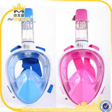 Panoramic View Snorkel Mask Anti-fog 180 Degree View Full Face Swimming Mask and snorkel