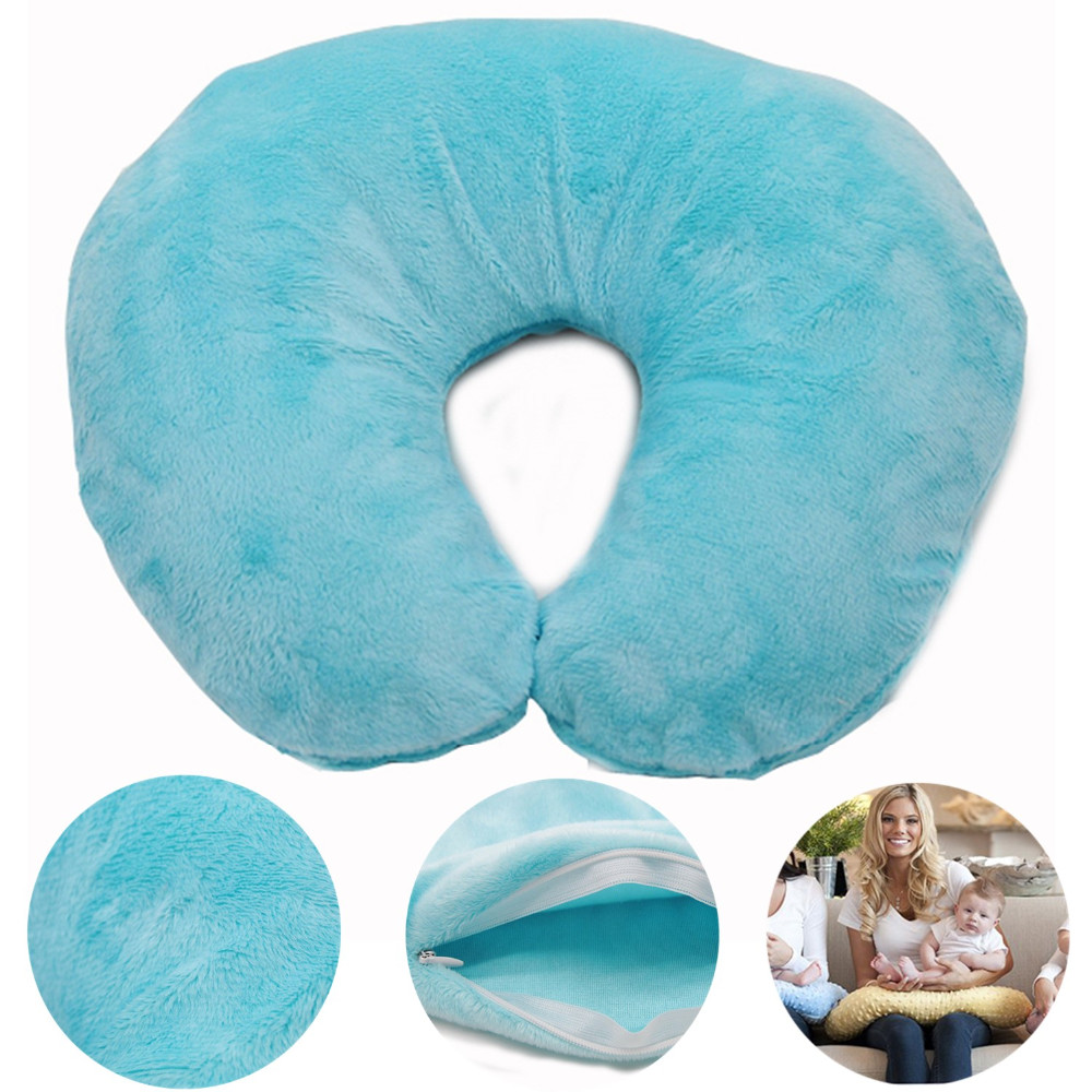 High Quality 100% Polyester New Style Super Soft Minky Baby Nursing Pillow
