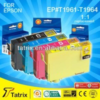 Hot sell compatible ink cartridges T1961-T1964 for Epson Expression XP-401