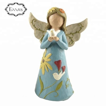 Polyresin decorative angel garden statues for gifts