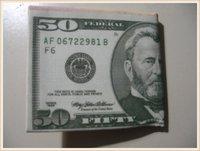 $50 Dollar Bill Money pattern/print Canvas bi-fold Wallet (NEW)