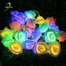 LED christmas holiday party wedding outdoor indoor rose flower fairy string light
