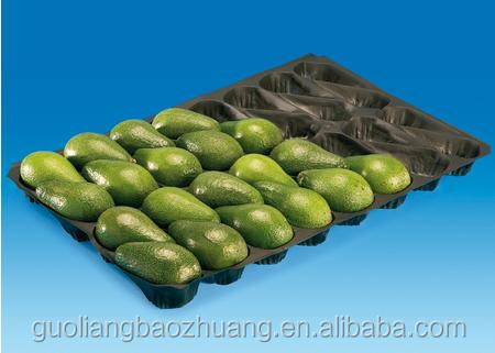 Factory Direct Safety Food Grade Custom Design Pear Avocado Fruit Packaging Plastic Tray