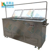 Ultrasonic blind cleaning machine of ultrasonic cleaning, dual tank with customized size