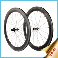 2015 YISHUN Bike Flat/Racing/CX/Triathlon 700c Road Cycling Carbon Wheel Material 60mm Clincher Chosen Hubs Bicycle Wheels SL60C
