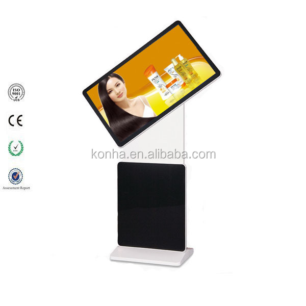 46 inch lcd display screen floor standing led kiosk rotation touch