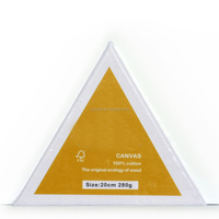 20CM Artist triangle MDF frame stretched canvas panel Primed Blank Cotton