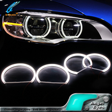Newest product white color E46 Projector led car Smooth cotton light smd led angel eyes for b-m-w