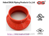 FM Approved Ductile Iron Grooved reducer,grooved fittings