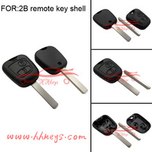 PEUGEOT 207 307 107 407 408 no logo nor chip 2 button remote blank car key shell