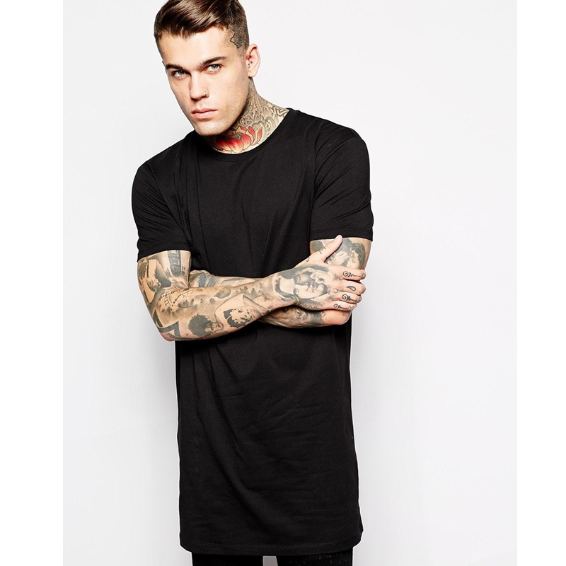 2016 Hip Hop Longline T Shirts Oversized Tee Longline T-Shirts for Men