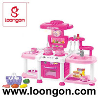 loongon plastic toy kitchen set
