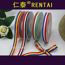 10mm wide tricolor flag ribbon