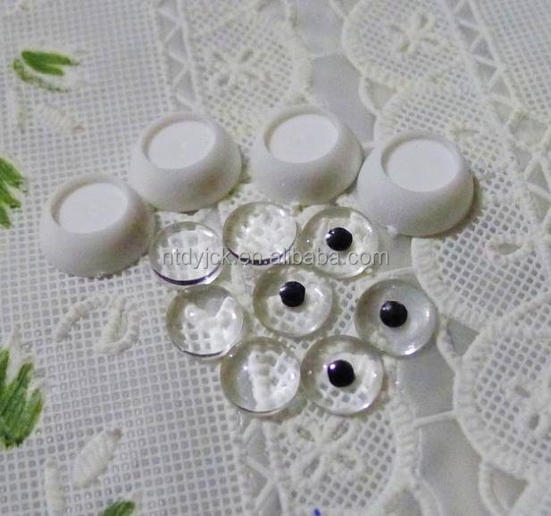 DIY clear safety plastic eyes for customizing blank eyes