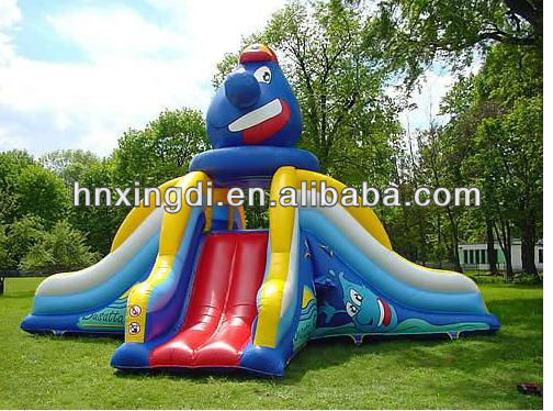 backyard octopus inflatable slide inflatable CE slide