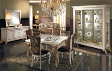 Square cheaper royal dining room furniture sets & restaurant dining tables and chairs & modern dining set marble