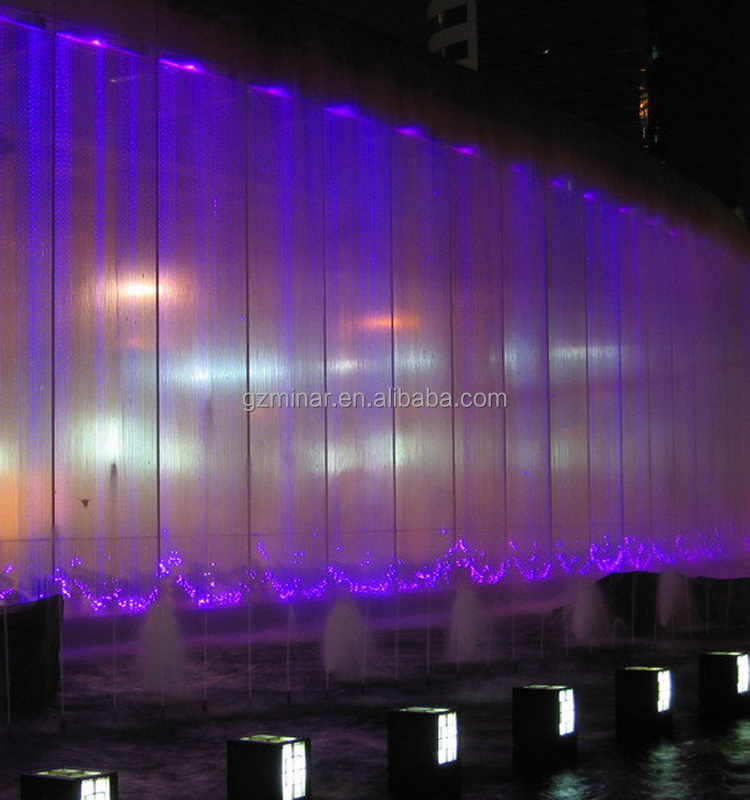manufacturer safety decoration fiber optic waterfall light curtain