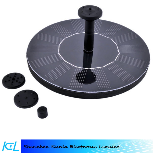 Cheap Black Floating Round Solar Water Fountain Submersible Water Pump