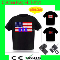 Over 10 years supplier provide el equalizer t-shirt/light up and down el lighting t shirt