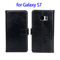 Amazon Top Selling Leather Flip Case for Samsung Galaxy S7 Case Wallet