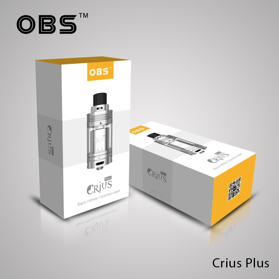 2016 Newest Top filling OBS Crius Plus 25mm ecigarette RTA tank wholesale