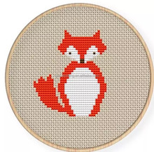 new fashion craft kit cross stitch kit sewing diy embroidery kit needle point red fox