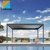 Residential buildings patio electric motorized louver roof aluminum pergola outdoor garden furniture