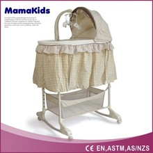 4 positions height adjust electrical cradle baby with changer