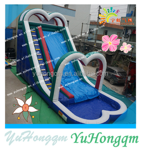china cheap outdoor commercial party use big simple inflatable heart water arch slides with a pool for adults and kids for sale