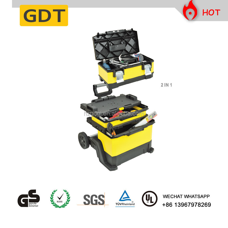 GD5007 23 Inch 3 In 1 Trolley Tools Box Made of Cold Roll Steel Sheets and PP