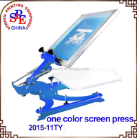SPE11TY one color screen printing equipment 1 Color Screen Press with Adjustable Pallet