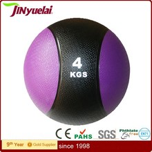 Medicine Leather Ball With Custom Logo / Exercise Fitness Training Crossfit Ball